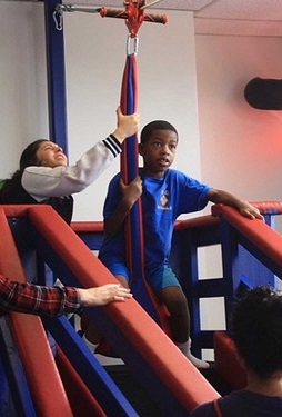 Sensory Safe Gym Kids Zip Line