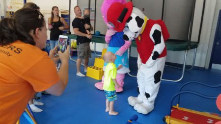 kid with marshall paw patrol kids gym grand opening waretown new jersey