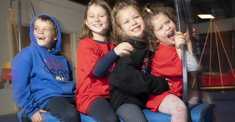 Kiddos on Sensory Safe Equipment at WRTS-Australia