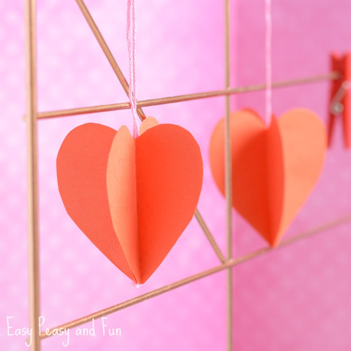 3D Paper Craft Valentine's Day Craft