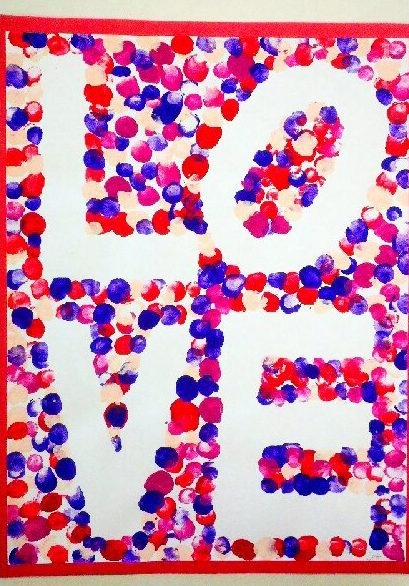 Fingerprint Love Poster Valentine's Day Craft