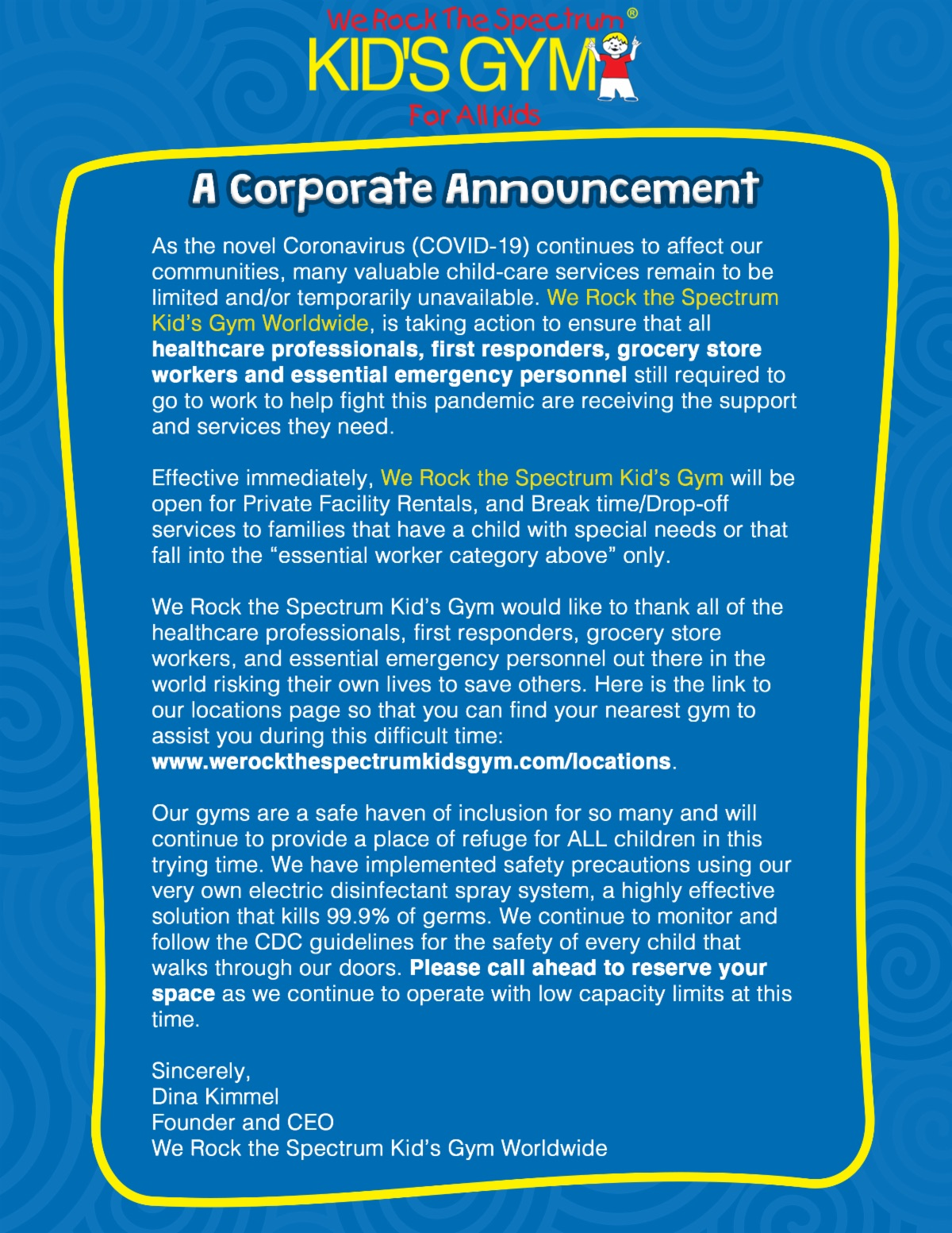 MBRTS COVID-19 Corporate Announcement Flyer